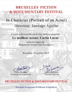 premio Bruselas: mejor actor